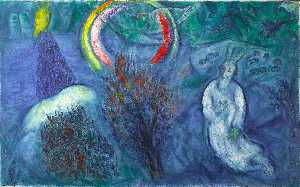 Marc Chagall - Moses with the Burning Bush