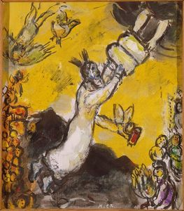 Marc Chagall - Moses receiving the Tablets of Law