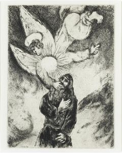 Marc Chagall - Jeremiah received Gift of the prophecy (Jeremiah, I, 4 10)