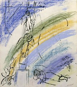 Marc Chagall - -Study to --The Jacob-s Dream---
