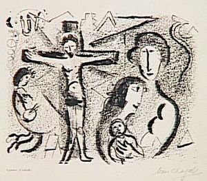 Marc Chagall - Christ family