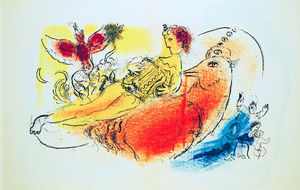 Marc Chagall - The accordionist
