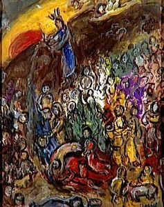 Marc Chagall - Striking the Rock