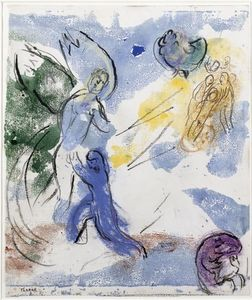 Marc Chagall - Jacob Wrestling with the Angel (8)