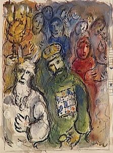 Marc Chagall - Moses and Aaron with the Elders
