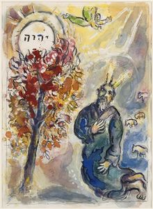 Marc Chagall - Moses and the burning bush