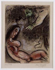 Marc Chagall - Eve is cursed by God