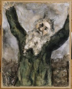 Marc Chagall - Moses spreads death among the Egyptians