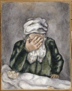 Marc Chagall - Abraham Weeping for Sarah