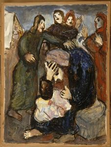 Marc Chagall - Jacob weeps over Joseph's tunic