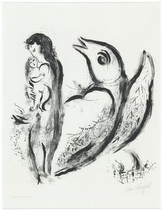 Marc Chagall - Mother and child