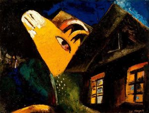 Marc Chagall - The cowshed