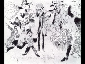 Marc Chagall - Banquet degenerates into brawl