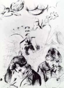 Marc Chagall - Gogol and Chagall