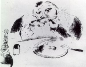 Marc Chagall - Sobakevich at table