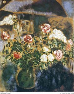 Marc Chagall - Peonies and lilacs