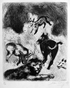 Marc Chagall - The lion become old
