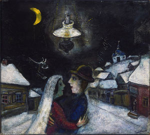 Marc Chagall - In the night