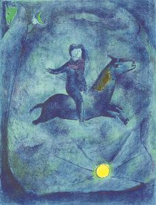 Marc Chagall - Mounting the ebony horse...