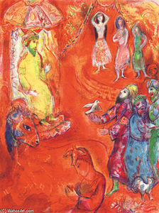 Marc Chagall - Now the King loved science and geometry...