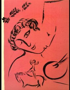 Marc Chagall - Drawing in rose