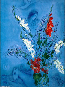 Marc Chagall - The Gladiolas