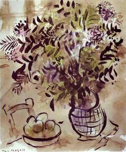 Marc Chagall - Still Life with Vase of Flowers