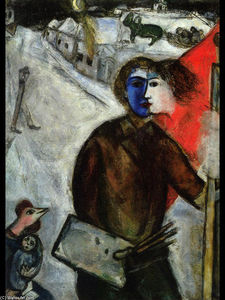 Marc Chagall - Hour between Wolf and Dog (Betwenn Darkness and Light)