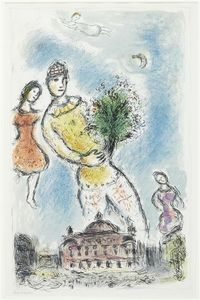 Marc Chagall - In the sky over Opera