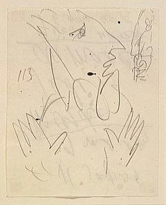 Marc Chagall - Study to --Exodus--