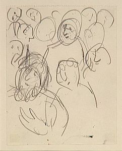 Marc Chagall - -Study to --Exodus---