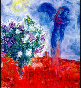 Marc Chagall - Lovers over Sant Paul