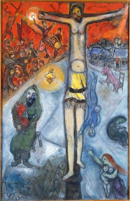 Resurrection Oil On Canvas By Marc Chagall 1887 1985 Belarus