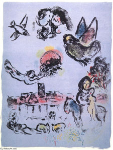 Marc Chagall - Nocturne at Vence