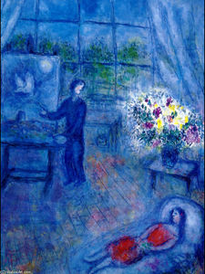 Marc Chagall - Artist and His Model