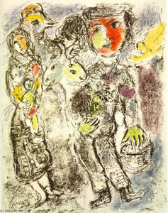 Marc Chagall - Couple of peasants