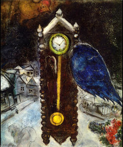 Marc Chagall - Clock with Blue Wing