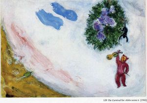 Marc Chagall - The Carnival, scene II of the Ballet ''Aleko''