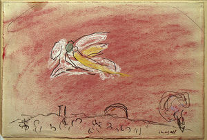 Marc Chagall - 'Study to ''Song of Songs IV'''