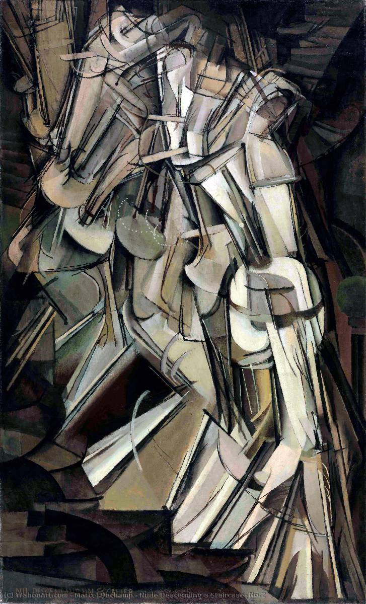Nude Descending a Staircase, No.2, Oil On Canvas by Marcel Duchamp (1887-1968, France)
