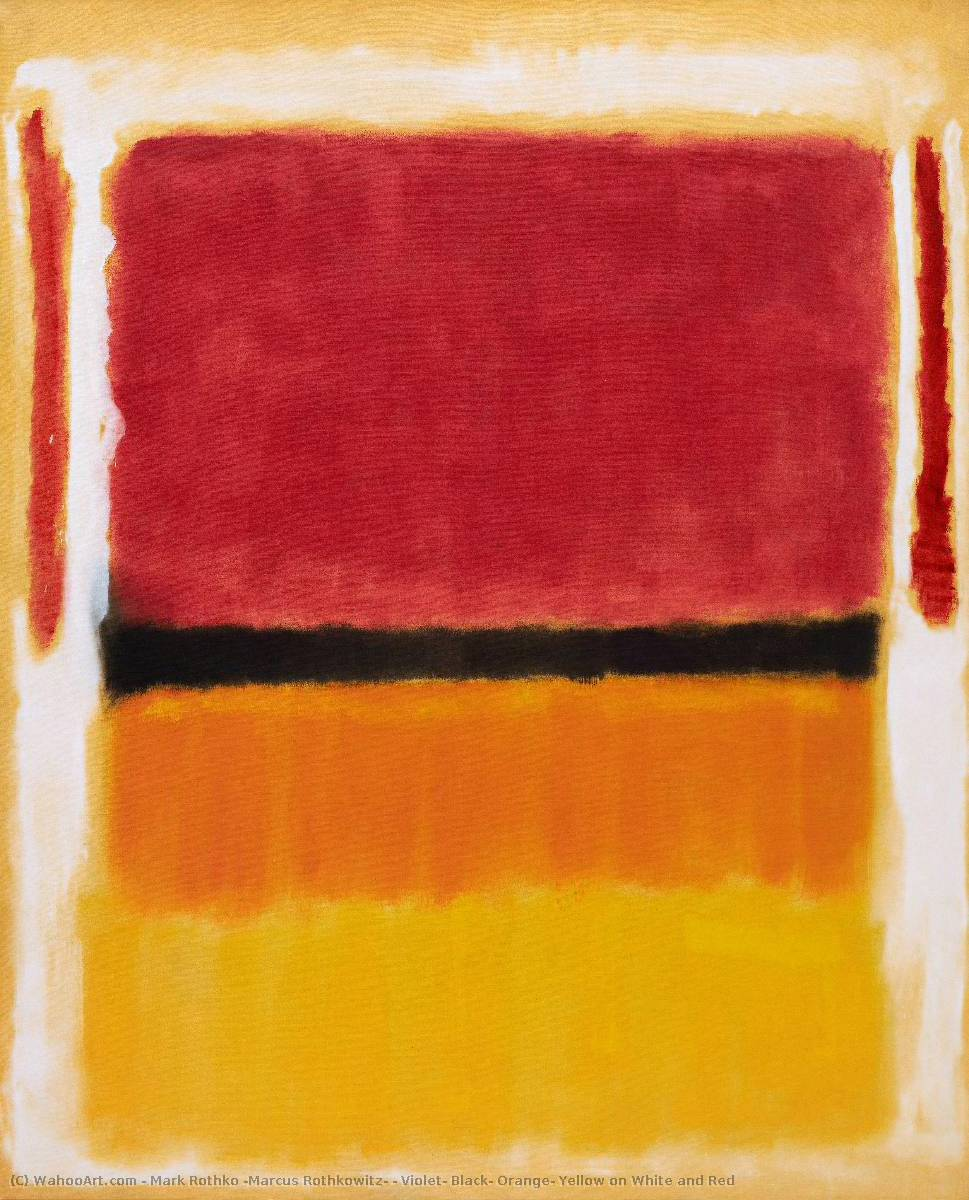 Violet, Black, Orange, Yellow on White and Red, 1949 by Mark Rothko (Marcus Rothkowitz) (1903-1970, Latvia)
