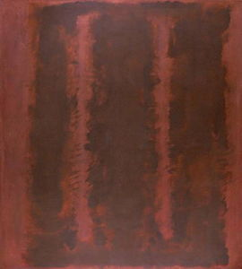 Mark Rothko (Marcus Rothkowitz) - Black on Maroon