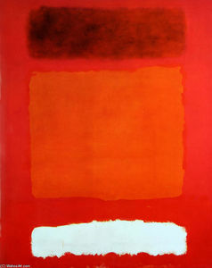 Mark Rothko (Marcus Rothkowitz) - Red, White, and Brown