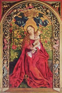 Martin Schongauer - Madonna of the Rose Bower