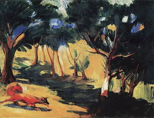Martiros Saryan - In the Grove in Sambek