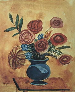 Martiros Saryan - Bouquet in blue vase