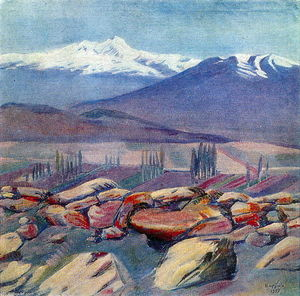 Martiros Saryan - Aragats and Mount Ara