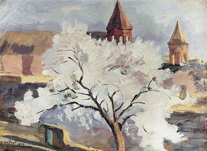Martiros Saryan - Apricot tree in blossom
