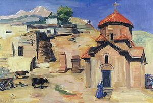 Martiros Saryan - Church Karmravor of VII century