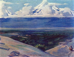 Martiros Saryan - Ararat in clouds